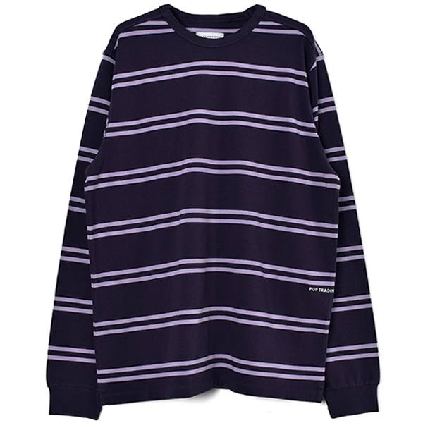Pop Striped Logo Longsleeve/Dark Purple/Violet