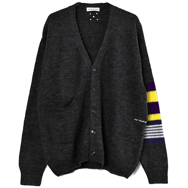 Pop Captain Knitted Cardigan/Anthracite