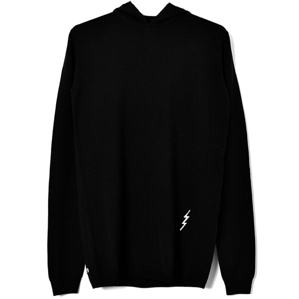 LS HOODY/BLACK/NATURAL