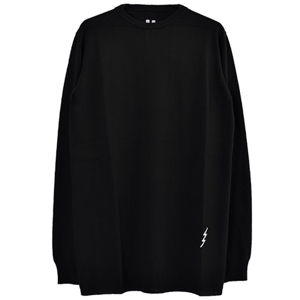 OVERSIZED ROUND NECK/BLACK/NATURAL