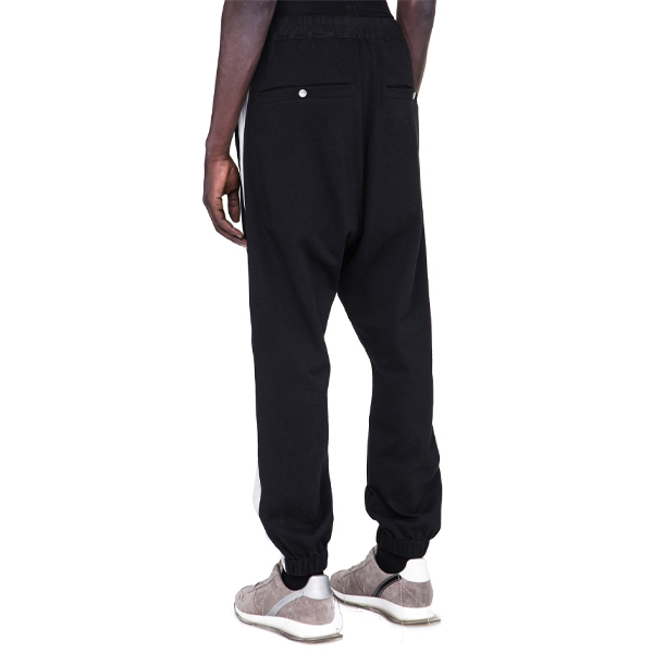 TRACK PANTS/BLACK/OYSTER
