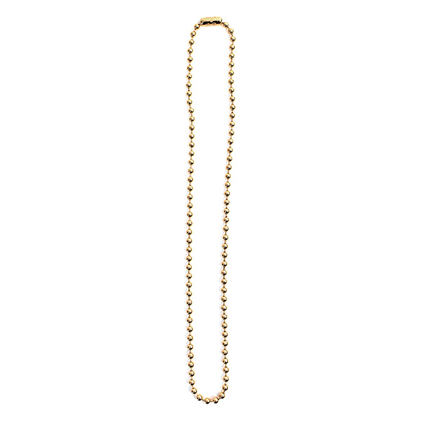 ball chain necklace -S- regular./gold