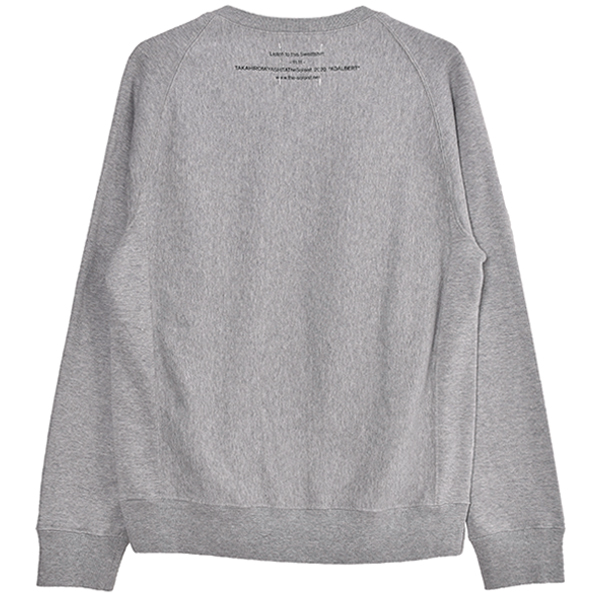 crew neck sweatshirt.-ADALBERT-/gray