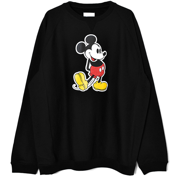 oversized Mickey Mouse crew sweatshirt./black×original