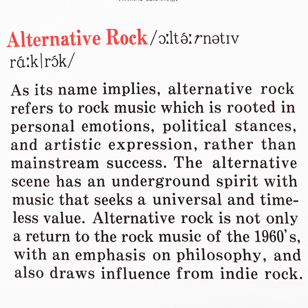 Alternative Rock/white