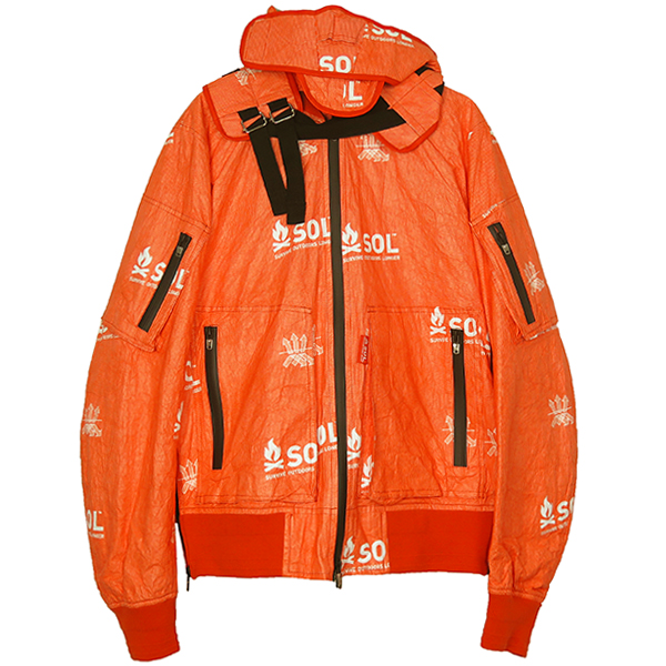 flight jacket./orange