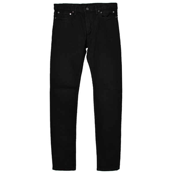 stretch slim tapered 6 pocket jean./black