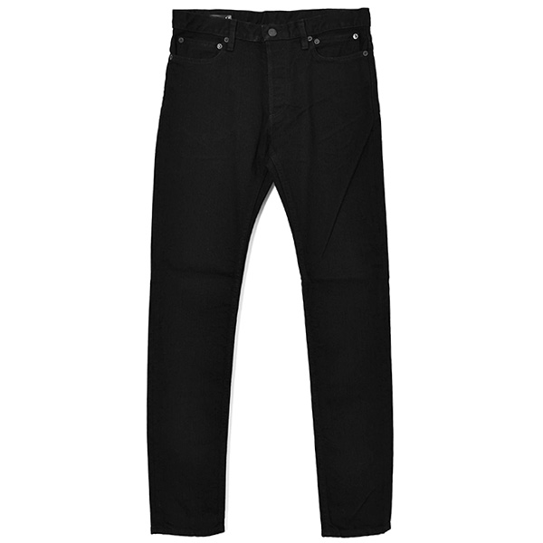 stretch slim tapered 6pocket jean./black
