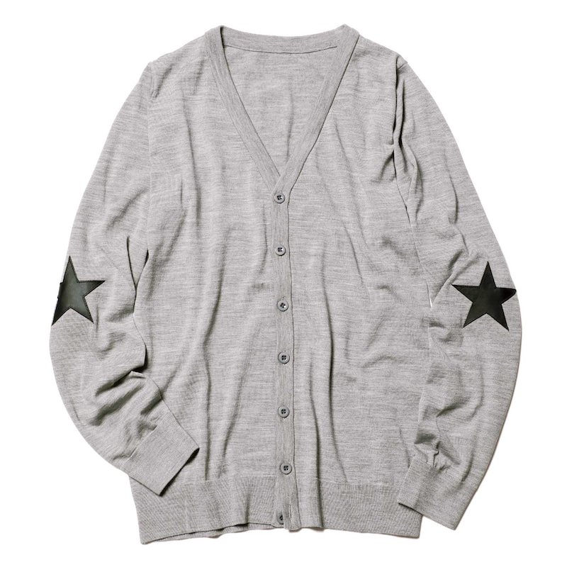 STAR ELBOW PATCH CARDIGAN(SOPH-192113)