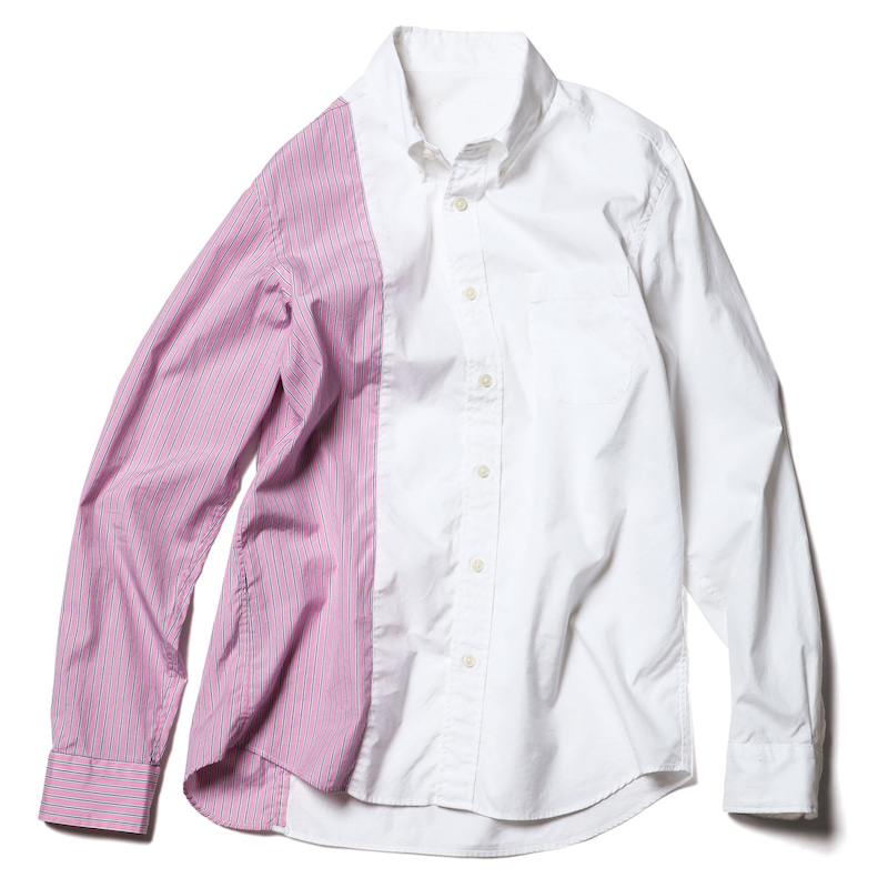 STRIPE PANELED B.D SHIRT(SOPH-200009)