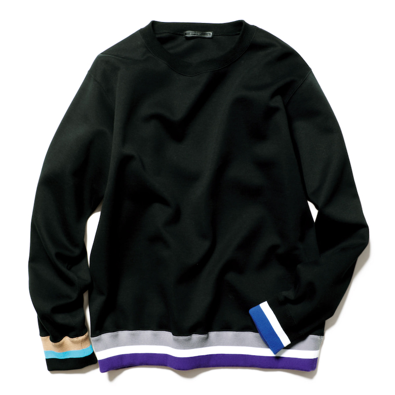 LINE RIBBED CREWNECK SWEAT(SOPH-200064)