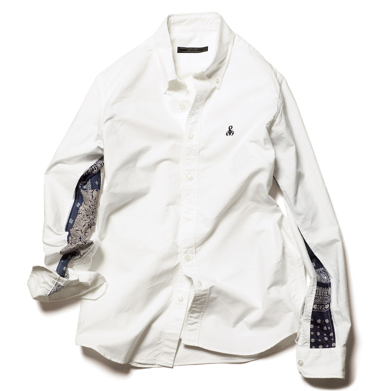 SLEEVE PANELED B.D SHIRT(SOPH-200067)
