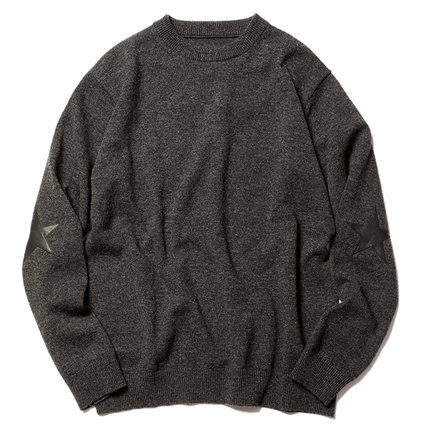 【ポイント30倍】STAR ELBOW PATCHED CREWNECK KNIT(SOPH-202092)