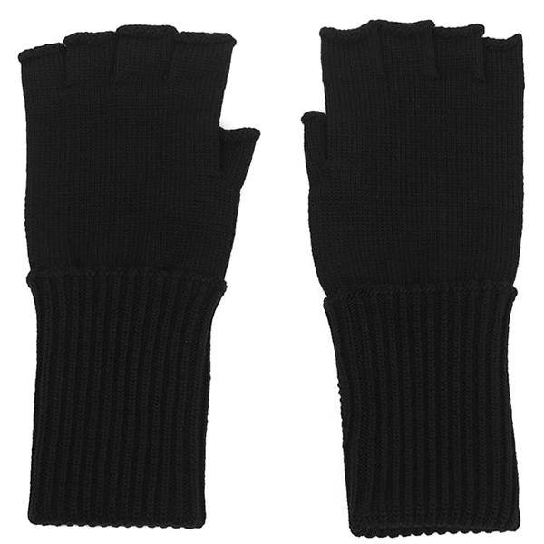 fingerless gloves./black