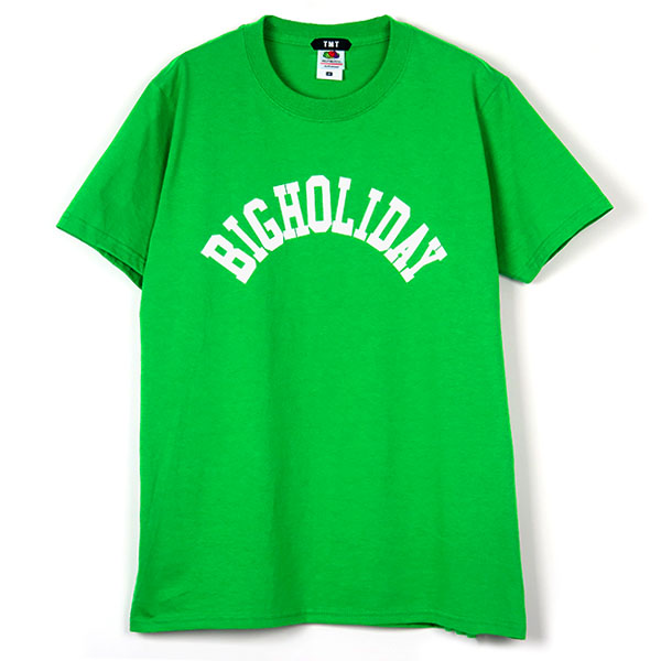 TMT×FRUIT OF THE LOOM TEE (BIGHOLIDAY)/GREEN(TCSS18FL06)