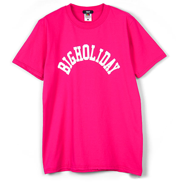 TMT×FRUIT OF THE LOOM TEE (BIGHOLIDAY)/PINK(TCSS18FL06)