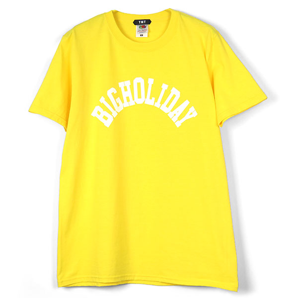 TMT×FRUIT OF THE LOOM TEE (BIGHOLIDAY)/YELLOW(TCSS18FL06)