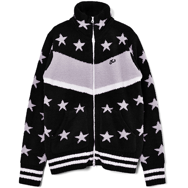 SHAGGY BOA STAR ZIP UP JACKET/BLACK