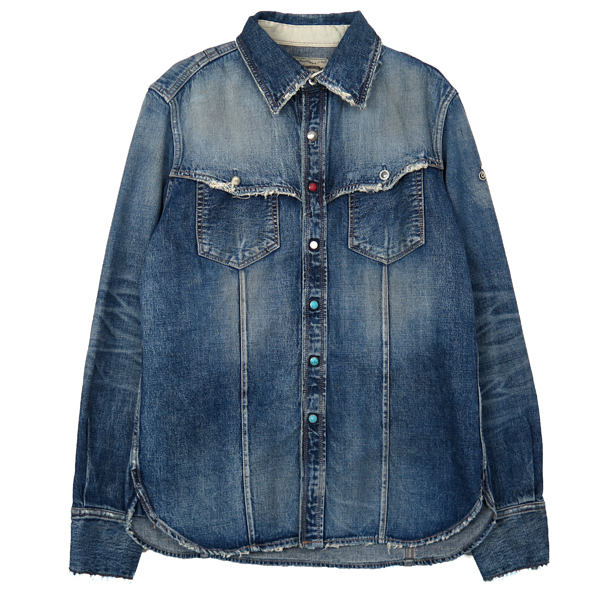 HQ SELVAGE WESTERN DENIM SHIRTS/INDIGO(TSH-F1804)