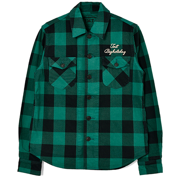 PIECE DYED BUFFALO CHECK SHIRTS/GREEN