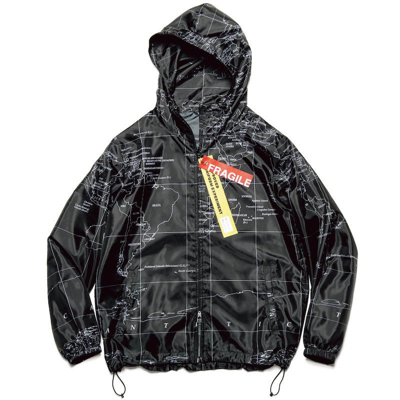 【ポイント10倍】WORLD MAP ZIP HOODED BLOUSON(UE-200000)