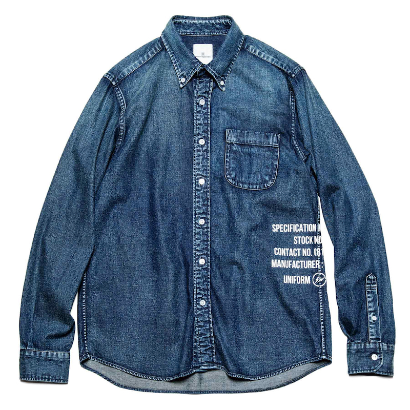 DAMAGED DENIM B.D SHIRT(UE-200036)