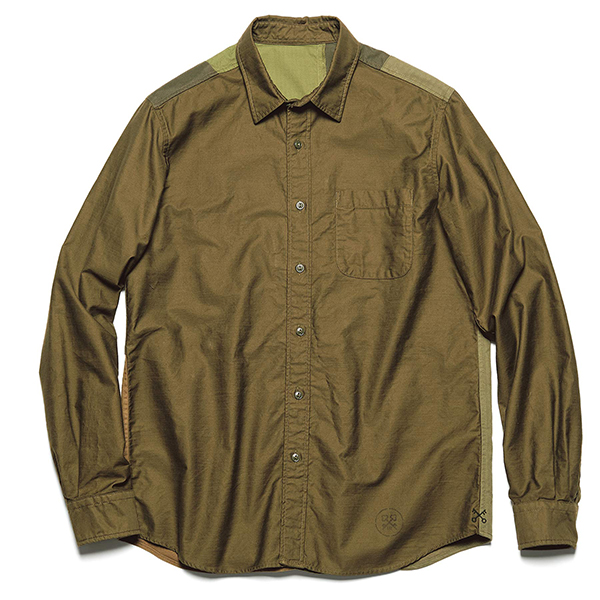 【ポイント30倍】BACK PATCH WORK REGULAR SHIRT(UE-202002)
