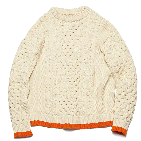 【ポイント30倍】COTTON CABLE CREWNECK KNIT(UE-202076)