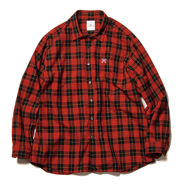 BAGGY REGULAR COLLAR CHECK SHIRT(UE-210045)