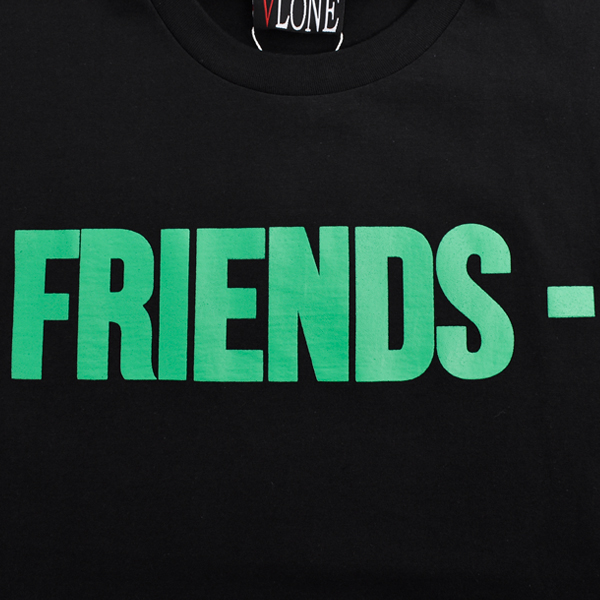 FRIENDS SS TEE/BLACK×GREEN