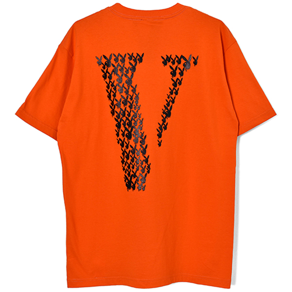 PLAYBOY SS TEE/ORANGE×BLACK