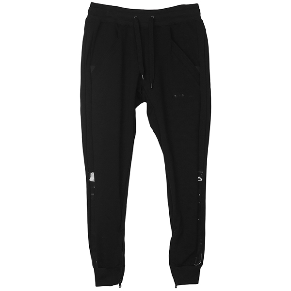 ENAMEL PANTS/BLACK