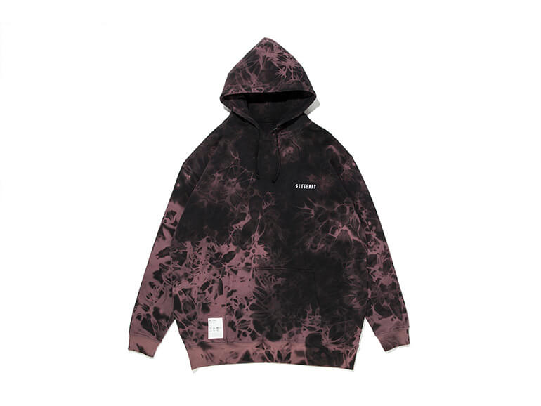 COTTON SWEAT BIG TIE DYE HOODIE