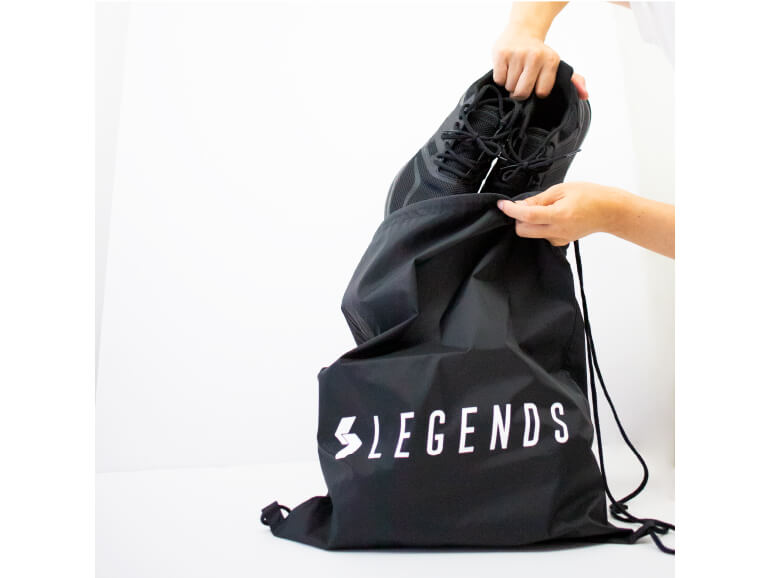 NYLON LOGO PRINT LAUNDRY BAG 【BLACK】FREE
