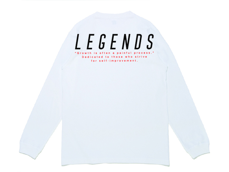 COTTON BIG BACK PRINT L/S TEE