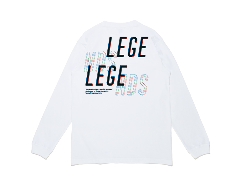 COTTON BIG OVER PRINT L/S TEE