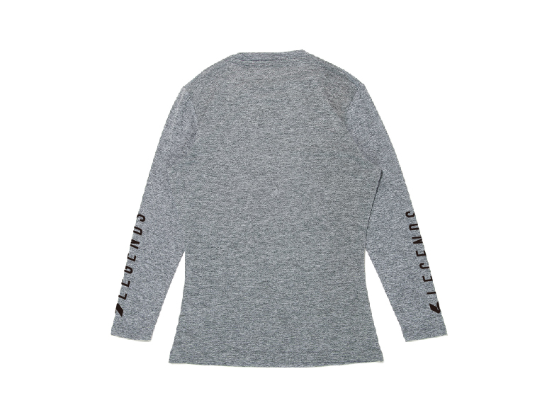 JERSEY STRETCH SLEEVE PRINT L/S TEE