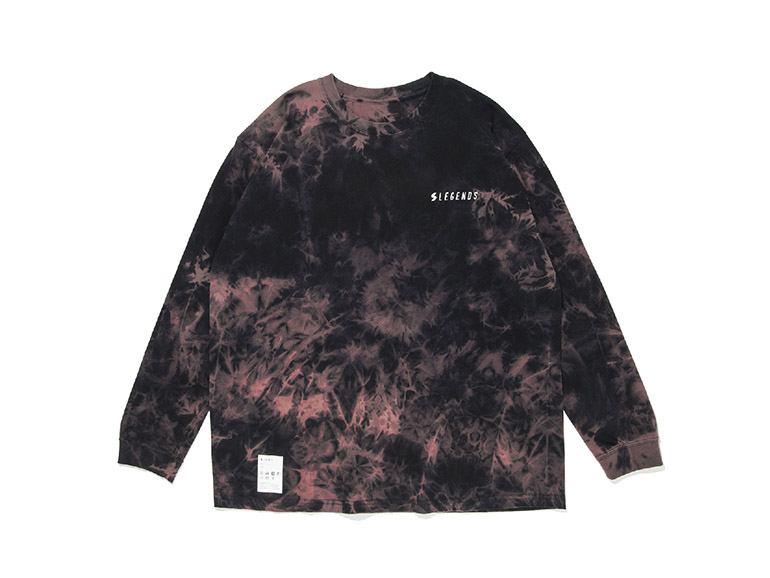 COTTON BIG WORLD PRINT TIE DYE L/S TEE