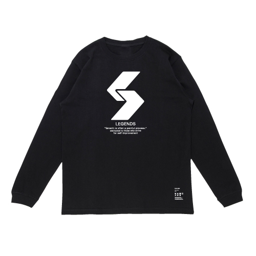 COTTON BIG LOGO PRINT HEAVY WEIGHT L/S TEE