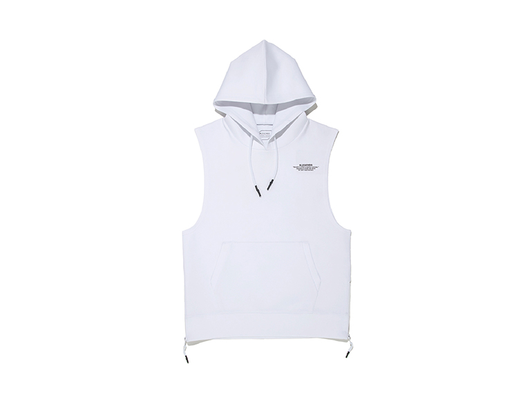DOUBLE KNIT LETTERED ONE POINT TANK HOODIE