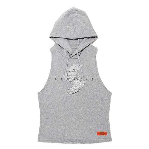 COTTON DRIPPING LOGO WIDE ARMHOLE TANK HOODIE