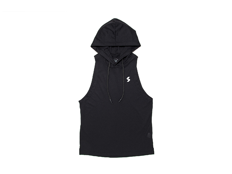DRY DOT LOGO GRAPHIC WIDE ARMHOLE TANK HOODIE