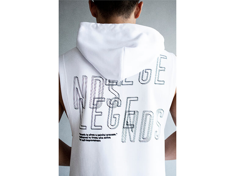 DOUBLE KNIT AFTER IMAGE TANK HOODIE