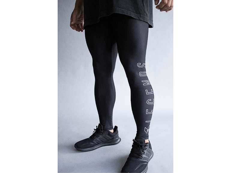 STRETCH OUTLINE LOGO PRINT LEGGINGS PANTS