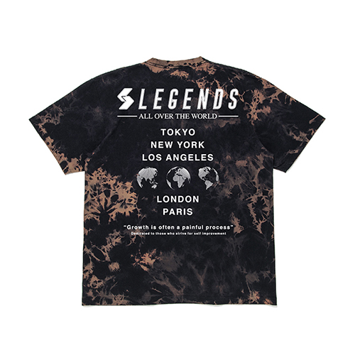 COTTON BIG WORLD PRINT TIE DYE S/S TEE
