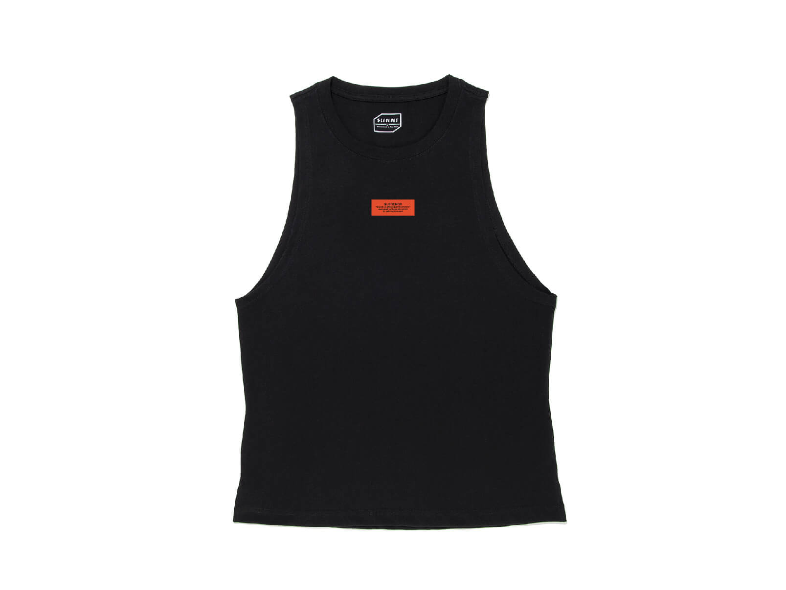 COTTON TICKET GRAPHIC WIDE ARMHOLE TANK TOP