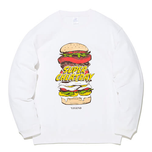 ビーレジェンド SUPER CHEATDAY CREWSWEAT