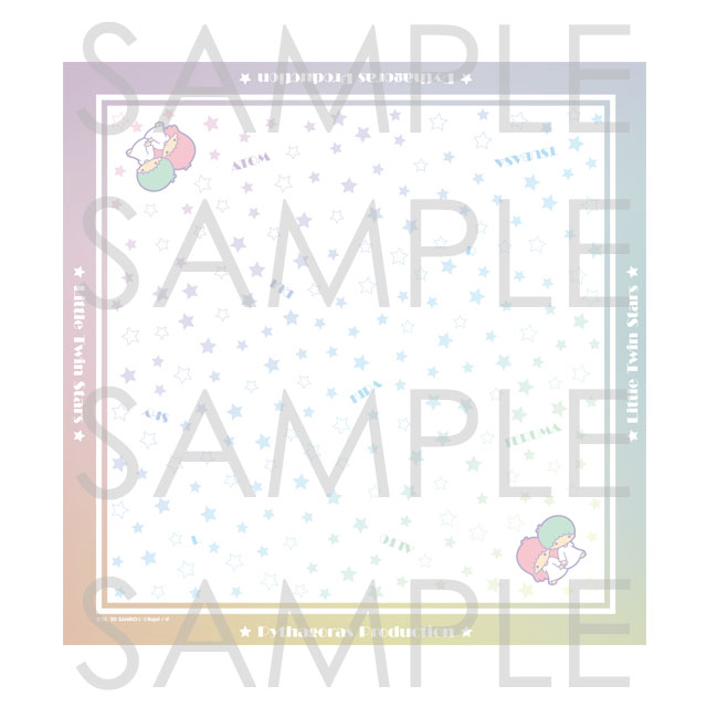 【10%OFF_SPRING_SALE_2021】ピタゴラスプロダクション×Little Twin Stars Twinkle Stage スカーフ
