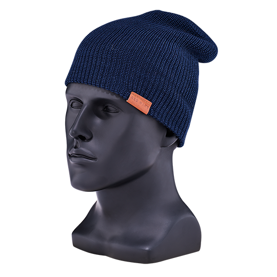 Merino Wool Knit Hat / Navy