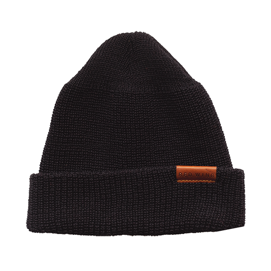 Merino Wool Knit Hat / Black